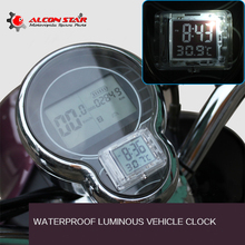 Alconstar- New Motorcycle Luminous Vehincal Clock Motorbike Motocross ATV Watch for Kawasaki KTM Moto with Temperature(China)
