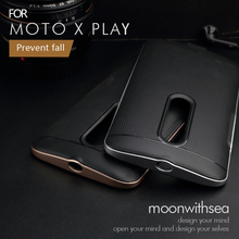 2016 New case for Motorola Moto X Play (5.5 inches) / X3 Lux XT1562 XT1563 Amazing 2 in 1 design PC+TPU mobile phone back cover