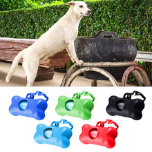 Hoopet 5PCS Bones Shape Pets Poop Waste Garbage Bags Dispenser Pet Dog Cat Rubbish Holder Bag Carrier Box with Refill Rolls