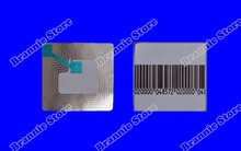 20000pcs/lot 8.2mhz EAS RF soft label for supermarket alarm gate rf security soft tag checkpoint 40*40mm free shipping