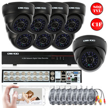 OWSOO Full CIF 16CH DVR 800TVL Security Camera System P2P Network Digital Video Recorder 8 pcs Infrared Doom Camera Euro Stock(China)