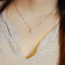 Fashion New Products Exclusive Design Simple Refined Lady Necklace Personalized Zircon Pendants CollarBbone Chain XL7467