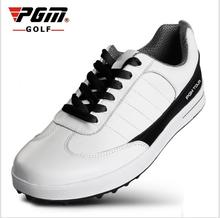 PGM new men's genuine leather golf shoes without spikes ultra soft super breathable waterproof golf shoes