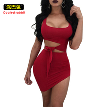 Buy Sexy Bodycon Dress Women Sleeveless Night Club Wear Bandage Party Dresses Womens Clothing Fashion Mini Hollow Slim Dress for $11.55 in AliExpress store