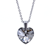 RINYIN Jewelry Stainless Steel Necklace Pendant Charm Black/White/Blue/Purple/Red Heart Crystal from Swarovski Gift Box(China)