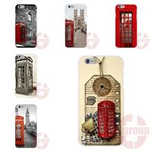 Vintage London Telephone Box For Samsung Galaxy Note 2 3 4 5 A3 A5 A7 J1 J2 J3 J5 J7 2016 Soft TPU Silicon Phone Coque