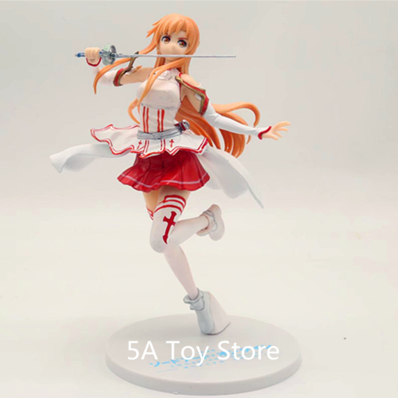 20cm Sword Art Online Anime Figure Asuna Yuuki Action Figure Swimsuit Water Ver Sexy Girl Dolls With Box F234 Toys & Hobbies