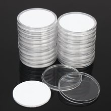 20 Pcs/Set Coin Storage Container Box 51mm Dia. Round Display Capsules Holder Ring Applied Clear Plastic Cases Collection Gifts