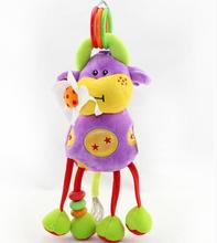 (10 pieces/lot)Soft stuffed plush Cow  toys baby  bed Hanging  toy   Baby Doll