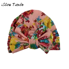 Toddlers Infant Baby Girl bowknot Print Flower Hollow Out Hat Headwear Headbands Hat india kids cap cute for children costumes(China)