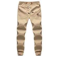 New Fashion Drawstring Men Pants High Quality Cotton Mens Joggers Casual Sweatpants Men's Trousers Size:M~5XL(China)