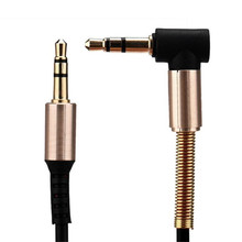 3.5mm Jack Elbow Male to Male Stereo Headphone Car Aux Audio Extension Cable Jun30#2 Dropshipping(China)