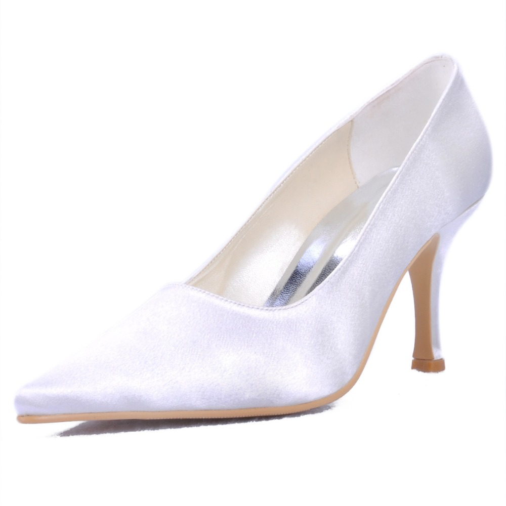 Elegant EP11022 Woman Shoes Pointy Toe Stiletto Low Heel Satin Prom Evening &amp; Party Shoes<br><br>Aliexpress