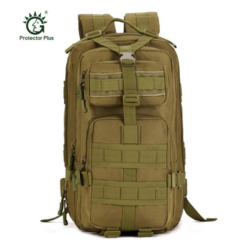 Men bag Military 6000 d  nylon 40 liters backpack 3 p attack 17 inch computer trip mens bags Protector Plus School bag girl <br>