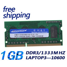 hottest sell in the market Memory Ram DDR3 1333Mhz 1GB for Notebook Sodimm Memoria Compatible