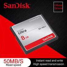 100% Original Genuine SanDisk Fit Ultra Memory Card CF Compact Flash Card up to 50 MB/s 8GB 8G Support official verification(China)