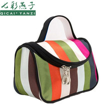 QICAI.YANZI Dot Cosmetic Bag Lady Travel Organizer Accessory Toiletry Zipper 2017 Hot Sale Makeup Bag Holder Storage Bag S386