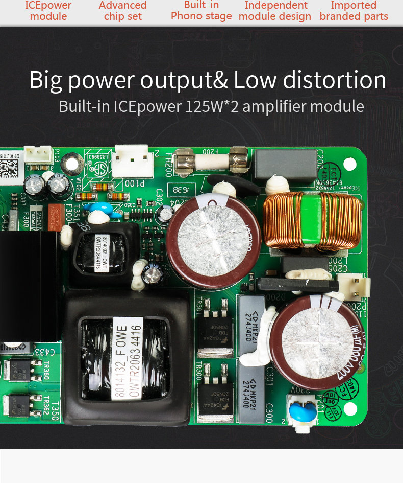 2018 SMSL A8 125W*2 USB HIFI Audio Digital Power Amplifier/DAC/Headphone Amp Latest XMOS Solution ICEpower Module AK4490 DSD512