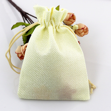 12colors Can Pick 50pcs 7*9cm Jute Bag Drawstring Burlap Bags Gift Candy Beads Bags For Handmade Soap Storage/ Wedding Decor
