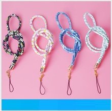 1PCS Floral Tags Strap Neck Lanyards for keys ID Card Pass Gym Mobile Phone Charm USB badge Holder DIY Hang Rope Lariat Lanyards(Hong Kong,China)