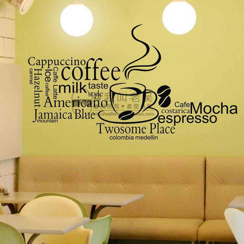 Kitchen.Coffee House Cup Decal Removable Wall Sticker Decor Art Vinyl DIY MuraGG