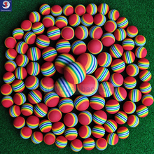 The new golf balls colored Rainbow indoor practice ball EVA foam  toy 5 sizes Golfball ROHS EVA Beginner Safety