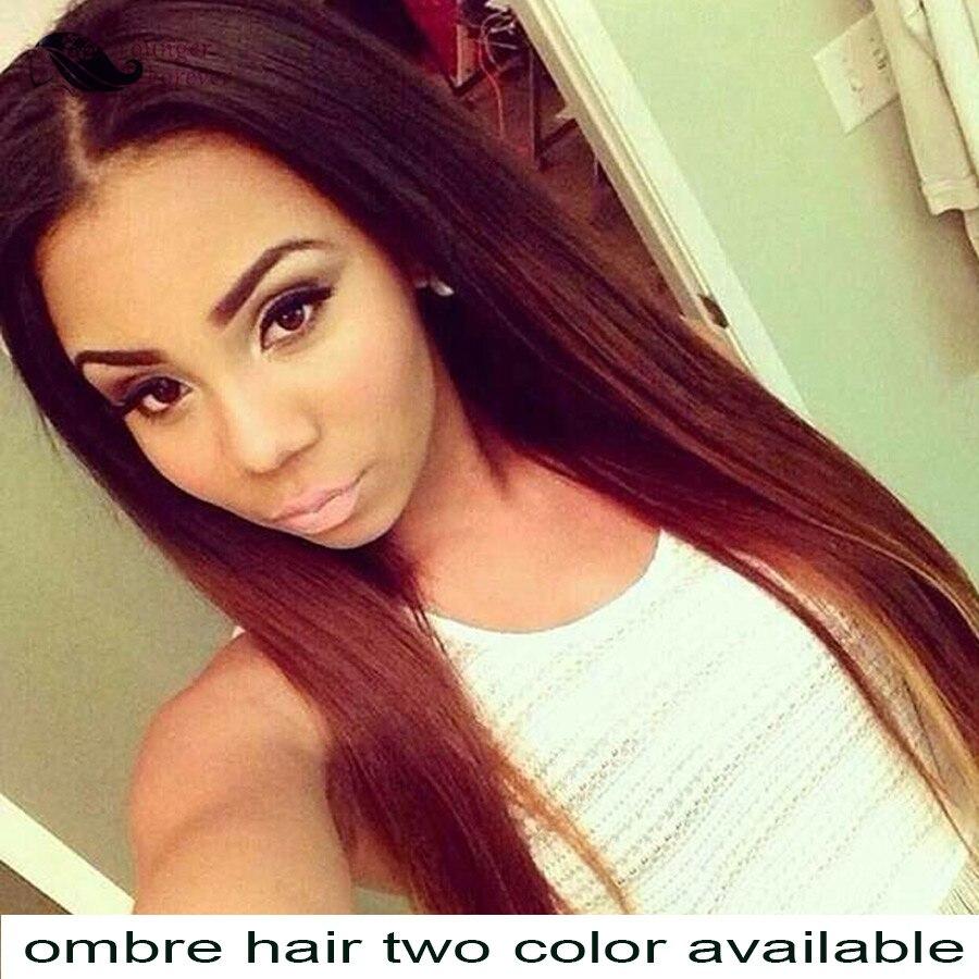 Ombre Brazilian Hair 4 Bundles Ombre Brazilian Straight Hair Two Tone Blond Brown Human Hair Weave T1b/33 1b/27 <br><br>Aliexpress