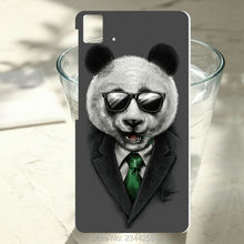 1PCS For BQ Aquaris E5 case Agent Panda design cover hard PC white plastic phone case For BQ E4.5 E6 M5 X5 plus