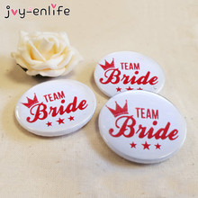 JOY-ENLIFE 1pcs Novelty Team Bride Badge Bachelorette Party Favors Bride To Be Wedding Party Favor Supplies Hen Night Decor(China)