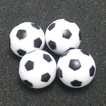 Foosball Table Baby BLACK WHITE 4pcs 28mm ABS Small-Sized SOLID NEW