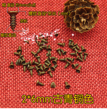Hardware accessories Fasteners supplies Small hinge special antique flat head cross screws M2*6