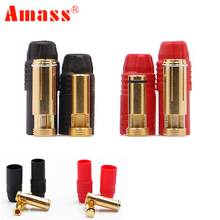 1set Amass AS150 Gold Plated Banana Plug 7mm Male/Female for High Voltage Battery Red/Black(China)
