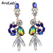 Best lady Bohemian Multicolored Luxury Crystal Dangle Earrings For Women Brand Good Quality Beads Cheap Drop Long Earrings 4305