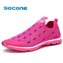 Socone Womens Running Shoes 2017 Summer Mesh Outdoor Sport Sneakers Men Breathable Slip On Shoes Women Comfortable Walking Shoe(China)