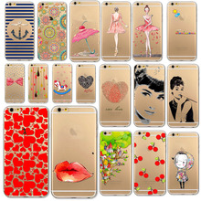 "Phone Case For iPhone 6 6s 4.7"" Charmig Scenery Beauty girl flower Soft Rubber Silicon TPU Skin Cover Case for iPhone 6 6s"