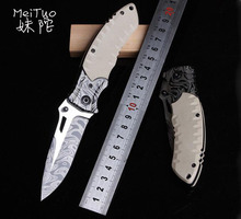 MeiTuo Tactical Folding Knife Camping Hunting Pocket knives Outdoor Survival Rescue Knife EDC Tools Sebenza Cuchillo Canivetes