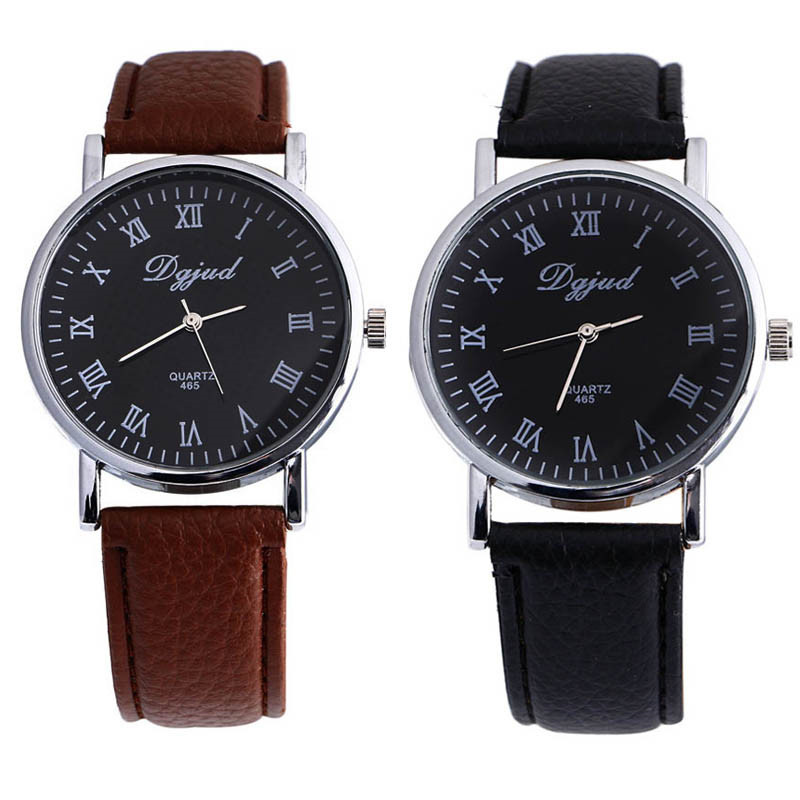 New Arrival Casual Brown&amp;Black Neutral Unisex Faux Leather Strap Luxury Sport Analog Quartz Wrist Watches #7712 Fast Shipping<br><br>Aliexpress