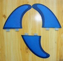 Surfboard Fins FCS Base Large Size Surfing Fins G7 Size Fiberglass and Honeycomb