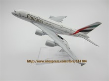16cm Alloy Metal Air Emirates A380 Airlines Airbus 380 Airways Airplane Model Plane Model W Stand Aircraft  Gift