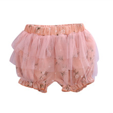 Adorable Mesh Floral Shorts Summer Kids Baby Girl Party Bottom PP Shorts Pants Costume(China)