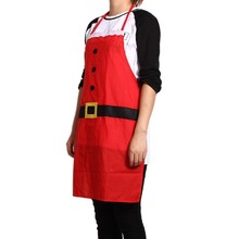 Big Sale Red Christmas Accessories Decoration Household Party Supplies Kitchen Bar Adult Apron
