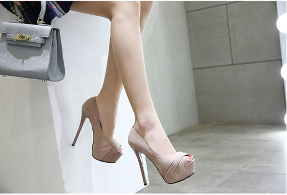 Detail Feedback Questions about Peep Toe 12cm 5 Inch Cheap Ultra ... 9f2a31482c59