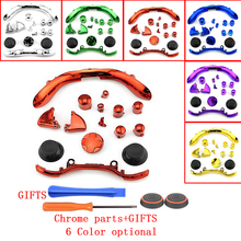 6Colors Replacement Repair Parts Chrome Plating Key Button Sets +GIFTS for XBOX 360 Wireless Controller