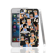 15066 bobs burgers hard transparent Cover Case for Apple iPhone 4 4S 5 5S 5C SE 6 6S Plus