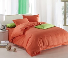 New Orange theme high quality home bedding set, 2 pillow case, 1 bed sheet and 1 duvet cover bed cover(China)