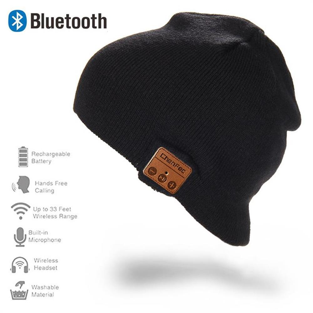 Newest Fashion Beanie Hat Wireless Bluetooth Earphone Smart Phone Headset Speaker Mic Winter Outdoor Sport Stereo Music Hat Cap(China (Mainland))