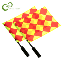Soccer Referee Flag with Carry Bag Football Judge Sideline Fair Play use Sports Match Football Linesman Flags Referee Tool WYQ(China)