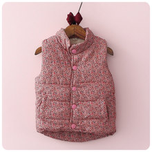 2016 Winter New Pattern Korean Children's Garment Girl Baby Shivering St Increase Down Vest Girl  Warm Vest Waistcoat