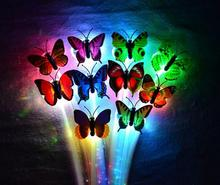 LED flash butterfly fiber braid party dance lighted up glow luminous hair extension rave halloween decor Christmas event f props