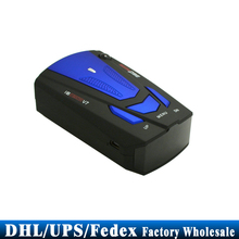 DHL Fedex UPS 50PCS Car Radar Detector,16 Band Voice Alert Laser V7 LED Display Radar Detectors Blue Color Newest(China)